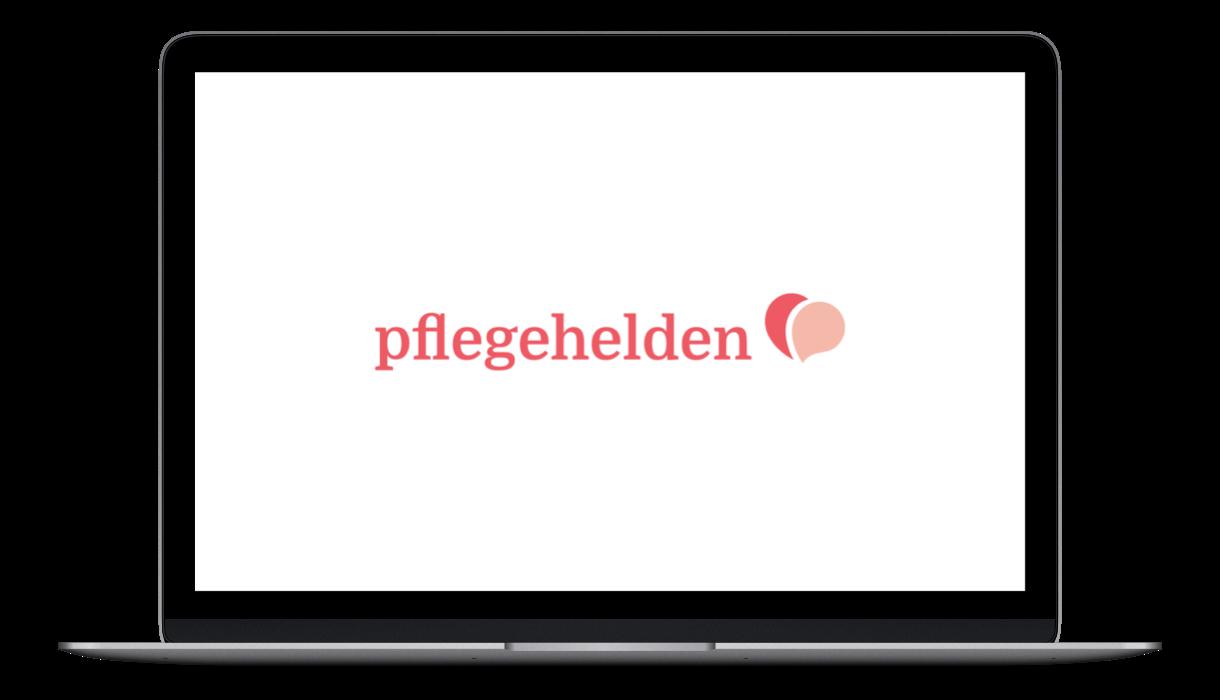 Pflegehelden Logo on Screen