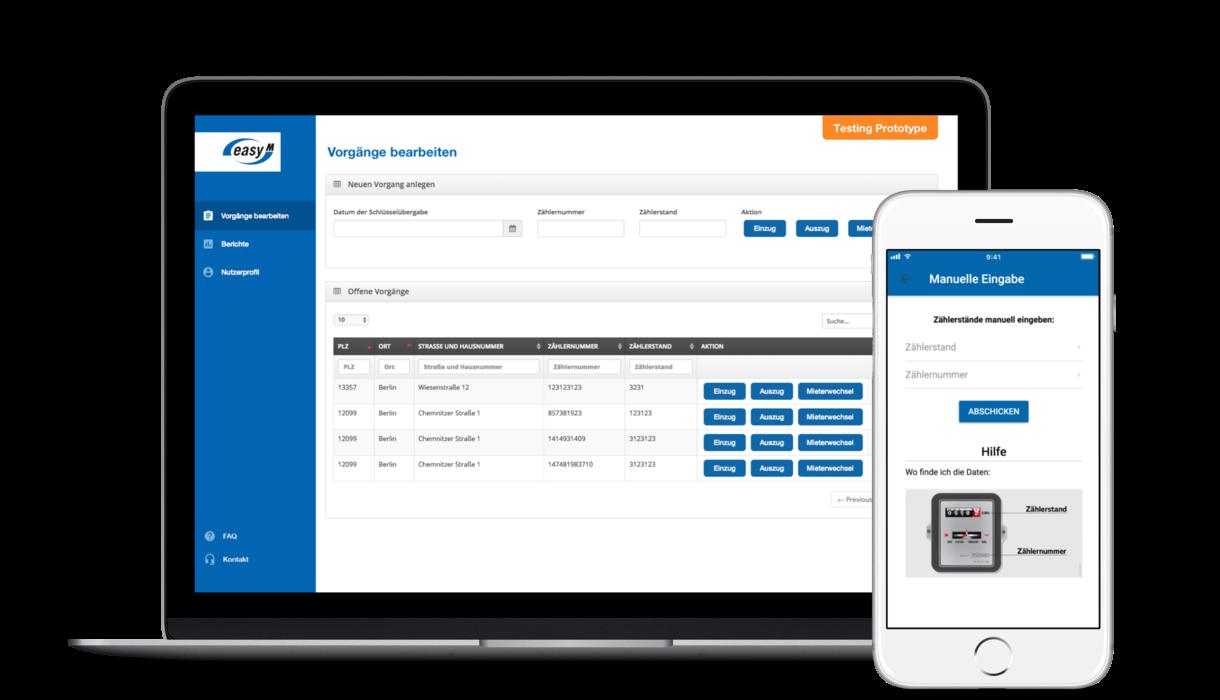 enviaM Prototype - easyM and meter management via app