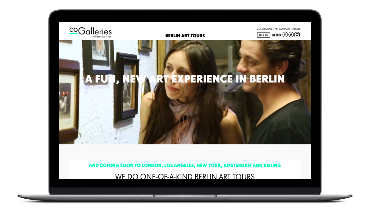 CoGalleries art tour welcome page
