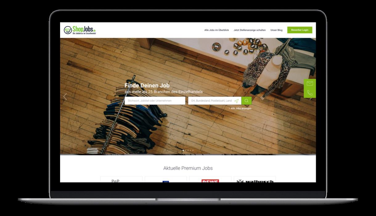 Shopjobs Startpage