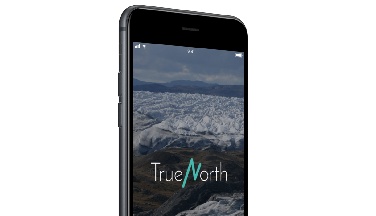 True North - welcome page of app