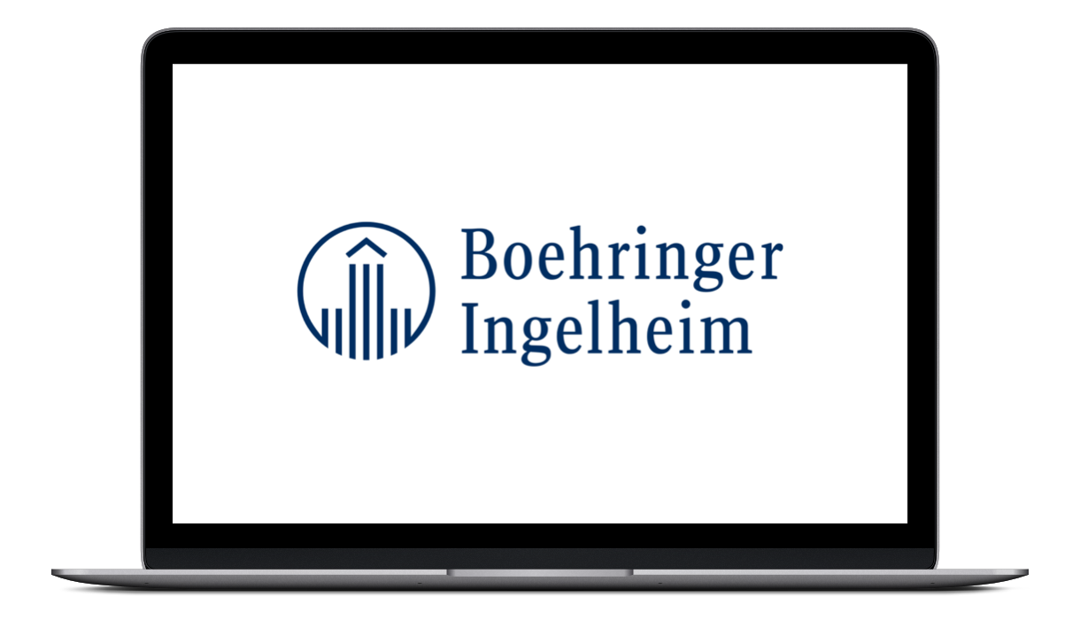 Boehringer Ingelheim Logo on Screen