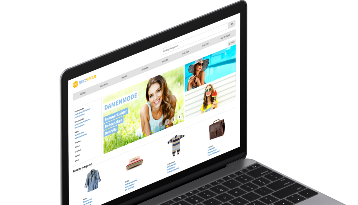 netzshopping online shop startpage